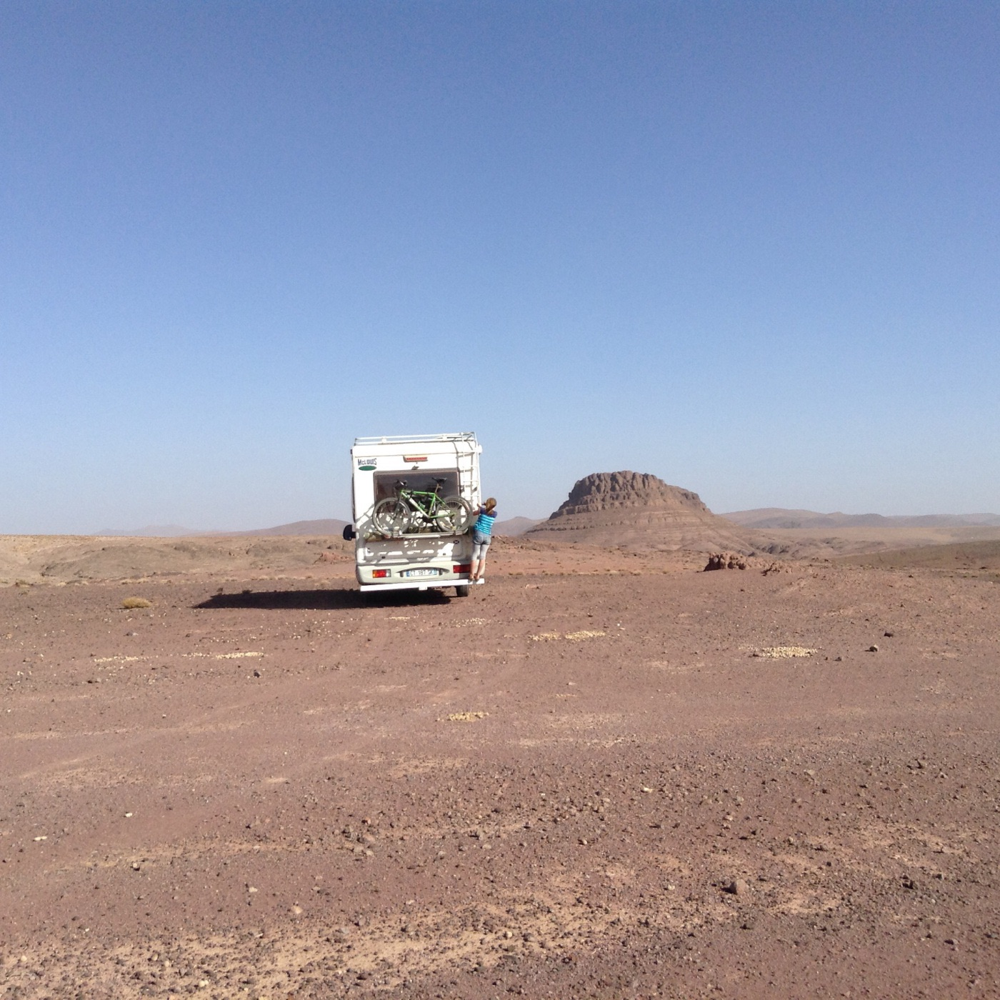The journey West to East in Morocco by campervan