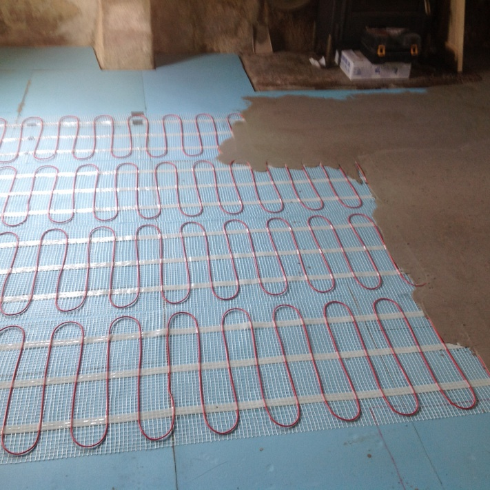 Laying electric matting heating