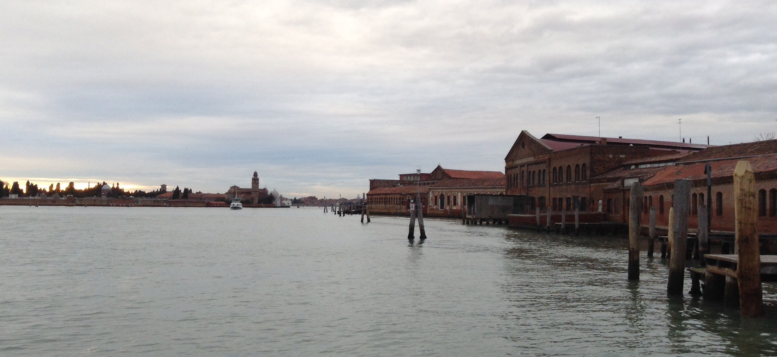 Murano from a boat