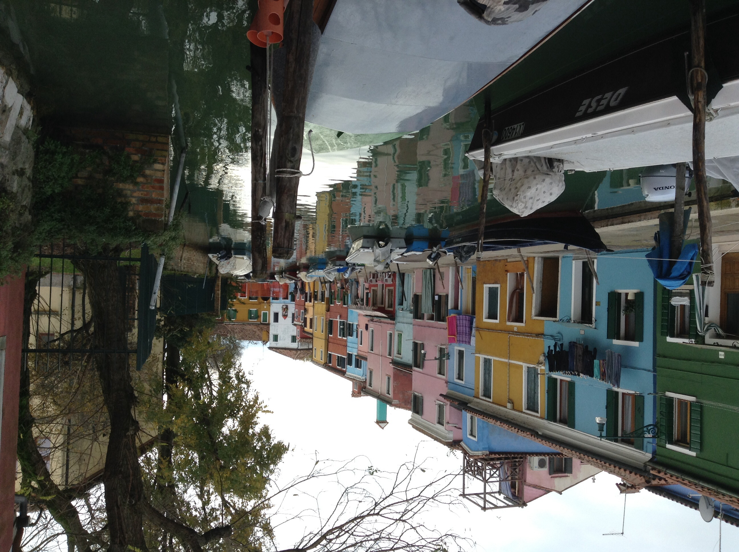 Burano canal and houses