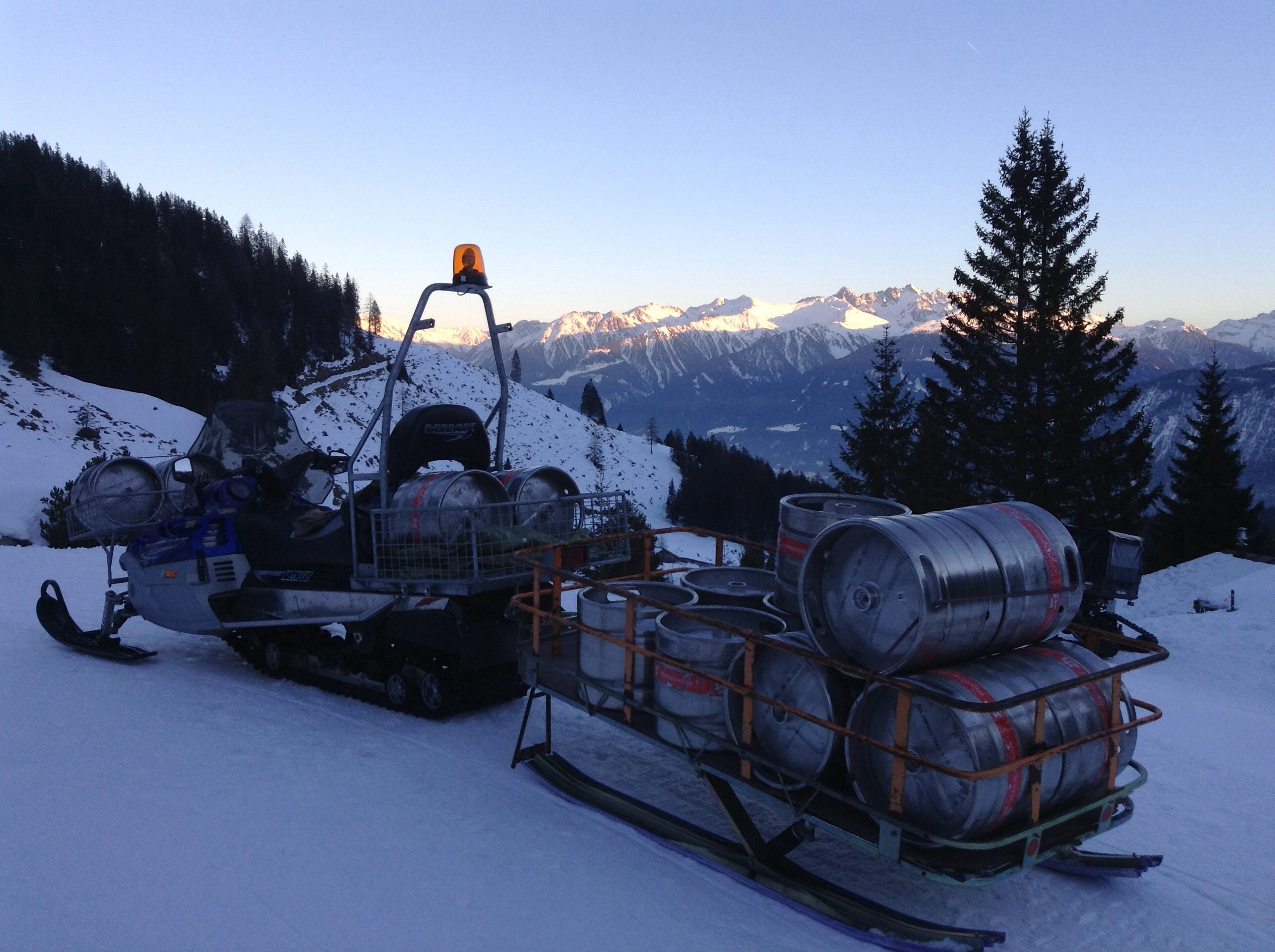 Beer going up a mountain