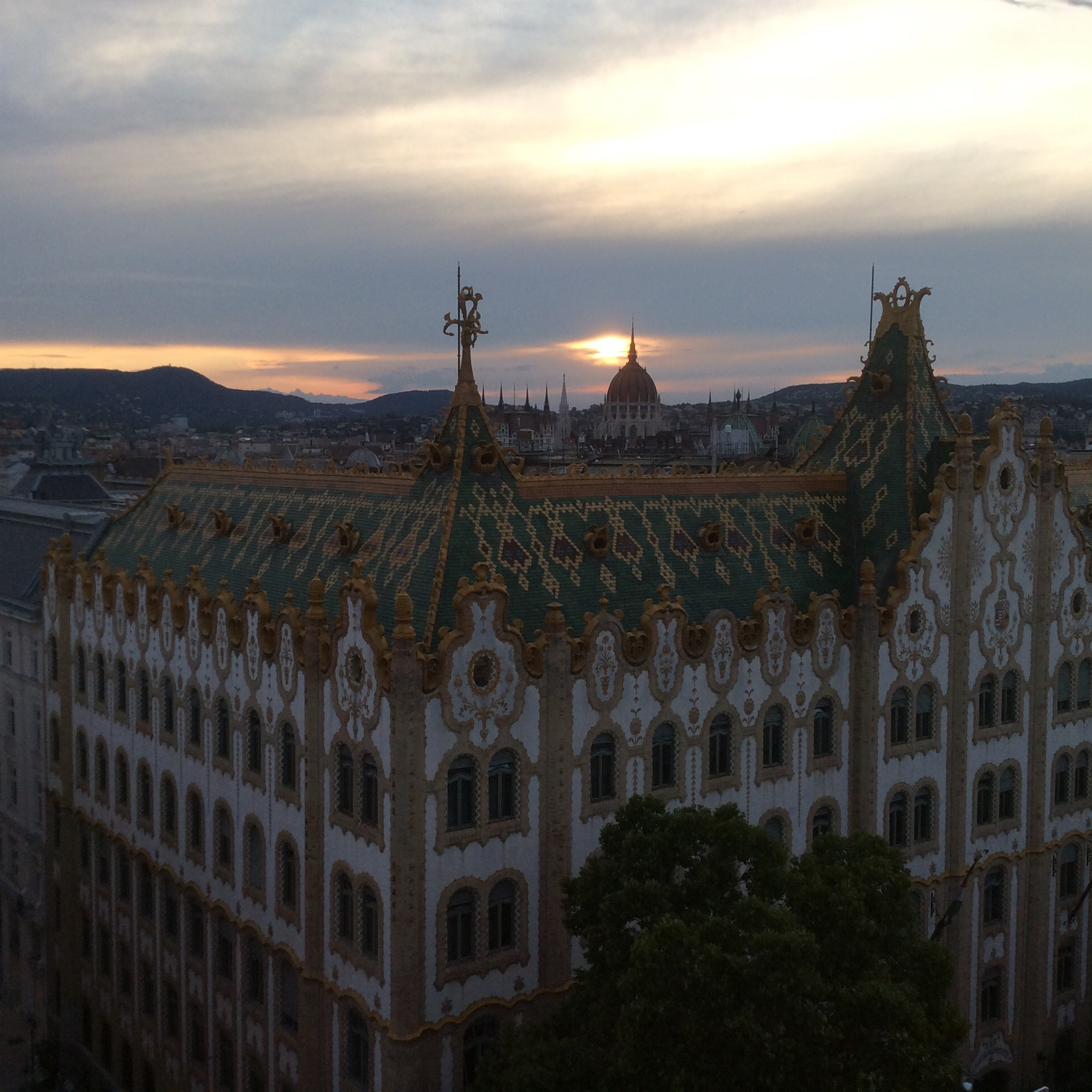 Rooftop view of Budapest.