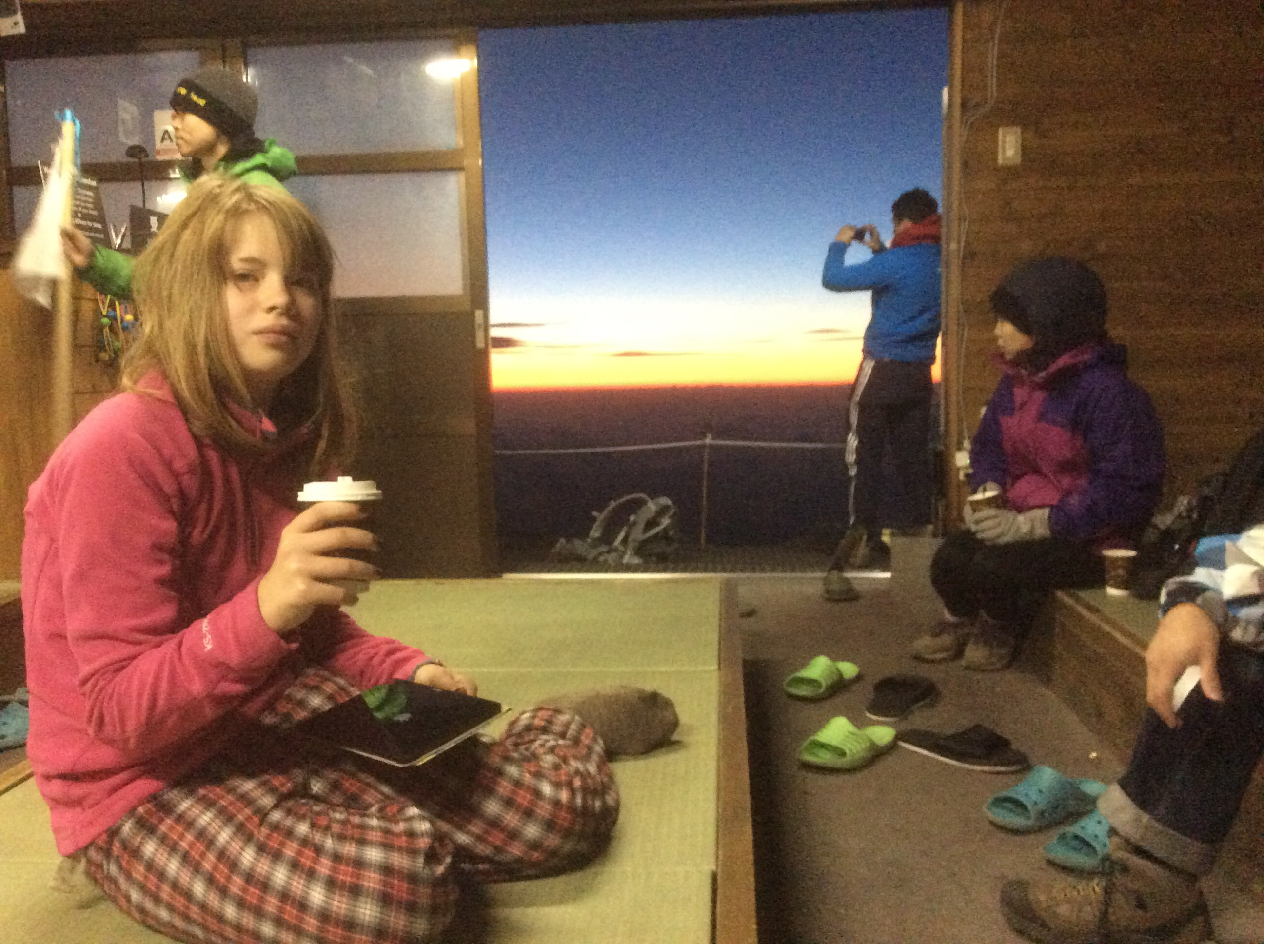A hot chocolate before sunrise.