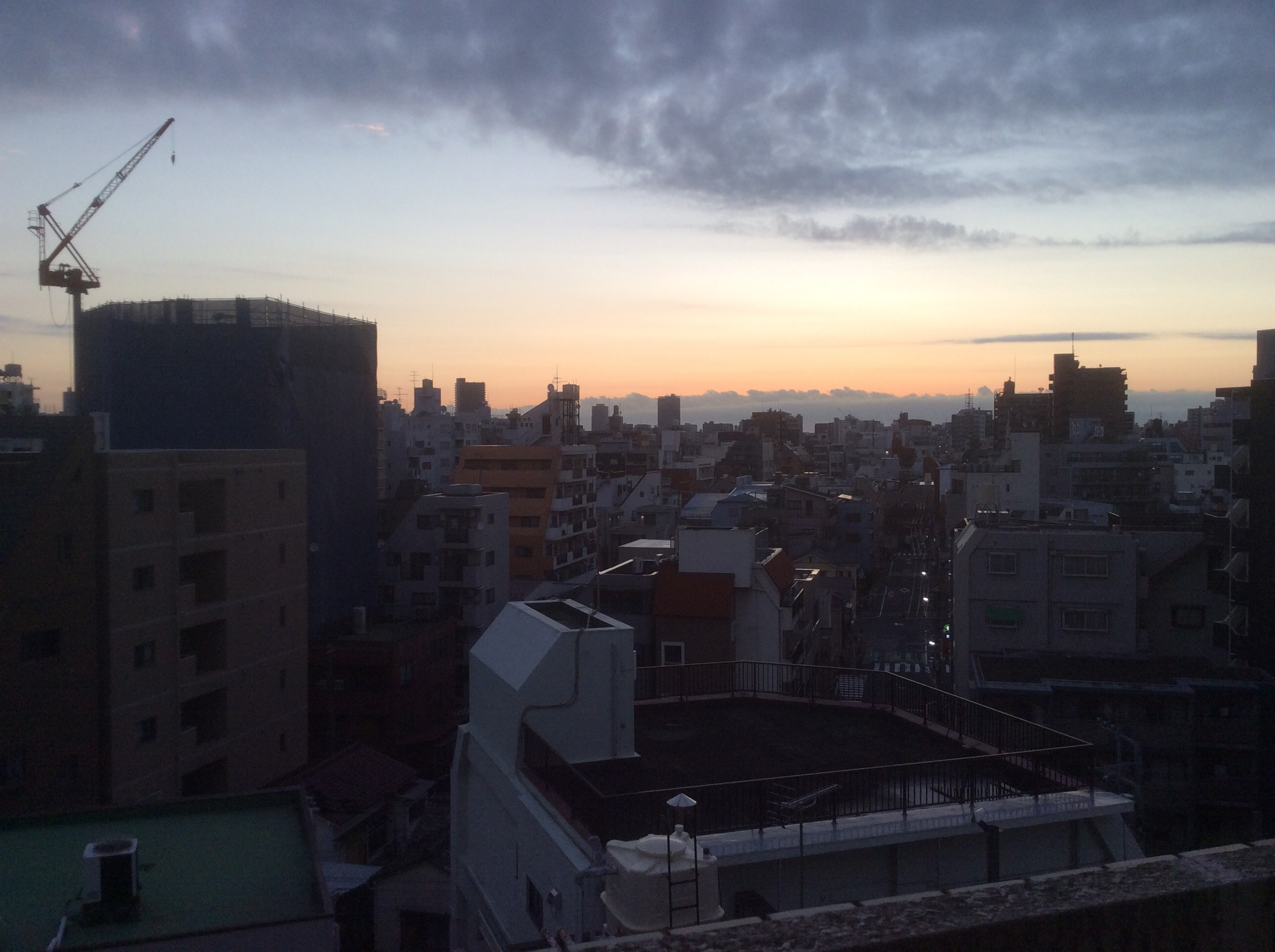 Just about to set off for the station. Early morning in Tokyo.