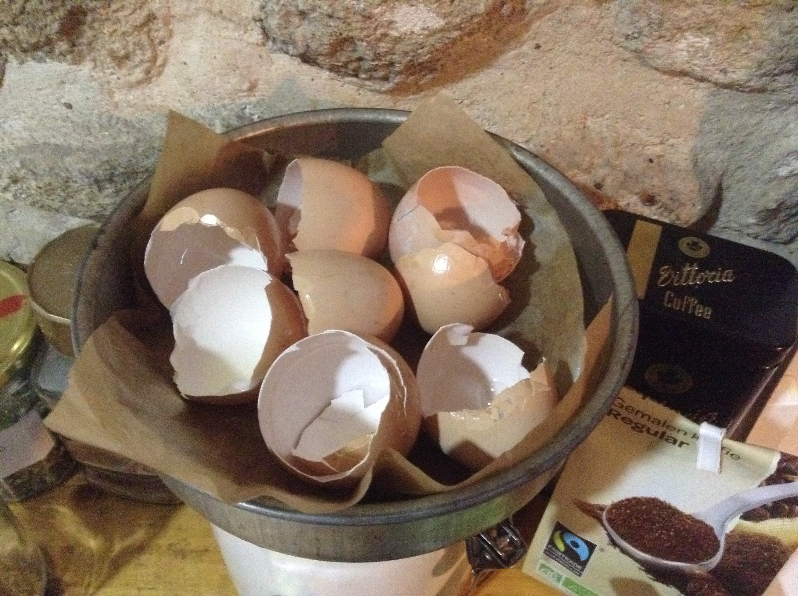 feeding your chickens/hens eggshells.